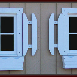"""Strafford Window Manufacturing, Inc. - Wood Window Sash for sheds, barns and stables - This Shed has two - 4 lite wood window sash, these are non-operating windows. (21 2/16""""w x 22 10/16""""h is $33.46 per window.) Wood window sash can be used for sheds, barns or stables. In addition wood window sash and wood transoms can be used fir inside the home for decoration purposes only. Windows built by Strafford Window Manufacturing, Inc.- Strafford, NH - Photo provided by Strafford Window Manufacturing, Inc."""