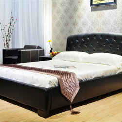 None - California King Platform Bed - Add charm and style to your bedroom with this California King bed. Available in a variety of color options,this bed will complement any decor.