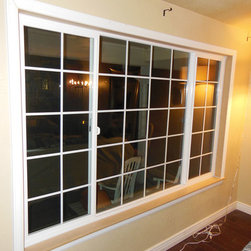 Window Replacement across Denver - Window after replacement with custom picture framing.