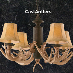 Antler Chandelier, 4-Light Reproduction - Anyone who is really into this design idea must have an antler chandelier!