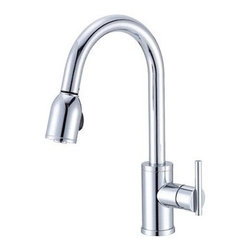 Danze Parma PullDown Single Handle Kitchen Faucet - We like the clean lines of this contemporary faucet with a pull out spray.