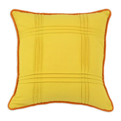 Chooty & Co. - Chooty and Co Duck 6 Seamed Self Corded D-Fiber Pillow - Yellow Multicolor - CS1 - Shop for Pillows from Hayneedle.com! About Chooty & Co.A lifelong dream of running a textile manufacturing business came to life in 2009 for Connie Garrett of Chooty & Co. This achievement was kicked off in September of '09 with the purchase of Blanket Barons well known for their imported soft as mink baby blankets and equally alluring adult coverlets. Chooty's busy manufacturing facility located in Council Bluffs Iowa utilizes a talented team to offer the blankets in many new fashion-forward patterns and solids. They've also added hundreds of Made in the USA textile products including accent pillows table linens shower curtains duvet sets window curtains and pet beds. Chooty & Co. operates on one simple principle: What is best for our customer is also best for our company.