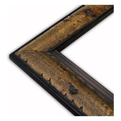 The Frame Guys - Olive Brown Burl Picture Frame-Solid Wood-6x6 - *Olive Brown Burl Picture Frame-Solid Wood-6x6