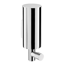 "WS Bath Collections - System 3521.001.02 Wall Mount Soap Dispenser - System 3521.001.02, 2.4"" x 3.4"" x 7.0"", Soap Dispenser in Polished Chrome"
