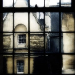 """""""Oxford Window"""" Artwork - At Oxford, looking through very old panes of glass. This photograph is printed on archival lustre paper."""