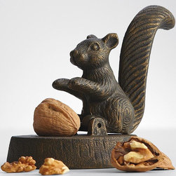 Vintage Squirrel Nutcracker - How cute is this vintage-inspired squirrel nutcracker? He'll have a place of pride in your host or hostess's home. Why not give them a bag of pecans or walnuts to go along with this beautiful gift?