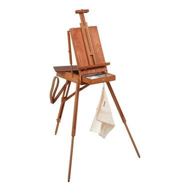 Martin Universal - Jullian Original French Style Sketch Box Easel - 92-JB45 - Shop for Art Easels from Hayneedle.com! The Jullian Original French Style Sketch Box Easel designed by Roger Jullian in 1945 is made for use when painting with oils watercolors or acrylics. This easel features a locking top drawer metal in and under the drawer and brass and brass-plated hardware. The sketch box provides storage space for your supplies. This easel includes a beige carrying bag with synthetic leather straps a tag holder and a handle.About Martin Universal/F. Weber Co.For a century and a half the name Martin Universal and F. Weber Co. have been synonymous with quality art materials. Established in 1853 in Philadelphia Pa. the Martin/Weber is the oldest and one of the largest manufacturers of art materials in the United States.