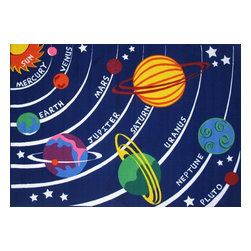 Fun Rugs - Fun Time - Solar System Kids Rugs - 31 x 47 in. - Your child's room is a natural extension of them. Add these innovative designs to spruce up any child's decor.