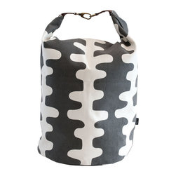 MAIKA - Recycled Canvas Snap+Fold Bucket, Echo, Charcoal, XLarge - Our canvas buckets are great for display and storage.