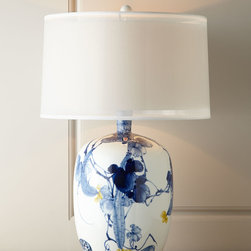 John-Richard Collection Floral Chinoiserie Lamp - New from John Richard is this modern take on the blue and white Chinese lamp. It has a great style and presence.