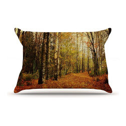 """Kess InHouse - Sylvia Cook """"Autumn Leaves"""" Rustic Pillow Case, Standard (30"""" x 20"""") - This pillowcase, is just as bunny soft as the Kess InHouse duvet. It's made of microfiber velvety fleece. This machine washable fleece pillow case is the perfect accent to any duvet. Be your Bed's Curator."""