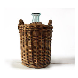 Antique French Demijohn by Rue des Louves - This gorgeous vintage French wicker demijohn with hand-blown glass is the perfect decor to give the the kitchen an authentic French farmhouse appeal.