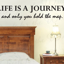 Decals for the Wall - Wall Decal Quote Vinyl Sticker Art Removable Lettering Life is a Journey IN35 - This decal says ''Life is a journey, and only you hold the map''