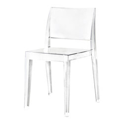ModLoft - Gower Dining Chair - Gower dining chair features polycarbonate construction in clear, opaque, or translucent colored finishes. seat height of ;18 in