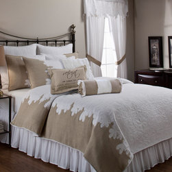 None - Roslyn Quilt and Separate Bedding Accessories - Transform your bedroom into a luxurious haven simply by adding this exquisite bedding accessory from Roslyn. This shabby chic quilt features hopsack detail and an embroidered floral design,making it the perfect accessory for any bedroom.