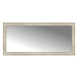 """Posters 2 Prints, LLC - 44"""" x 20"""" Libretto Antique Silver Custom Framed Mirror - 44"""" x 20"""" Custom Framed Mirror made by Posters 2 Prints. Standard glass with unrivaled selection of crafted mirror frames.  Protected with category II safety backing to keep glass fragments together should the mirror be accidentally broken.  Safe arrival guaranteed.  Made in the United States of America"""