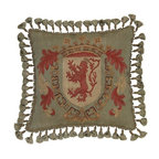 EuroLux Home - New Aubusson Throw Pillow Handwoven Fabric - Product Details
