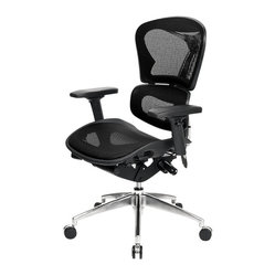 "At the Office - 6 Series Mid Back Chair - With this uniquely designed office chair, you can look good and feel good while sitting at your own ""command center."" Adjust the back portion, seat depth, armrests, tilt tension and lock — all creating maximum comfort."