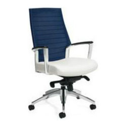 Global Industries - Mesh Back Desk Chair - Breathable Mesh Back (Tidal Wave-blue)