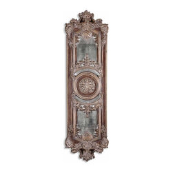Uttermost - Uttermost Domenica Wall Art - Uttermost Domenica Mirror is a Part of Grace Feyock Designs Collection by Uttermost This decorative wall decor features heavily antiqued mirrors accented by ornate framing finished in lightly distressed chestnut brown with a heavy gray glaze. May be hung horizontal or vertical. Wall Mirror (1)