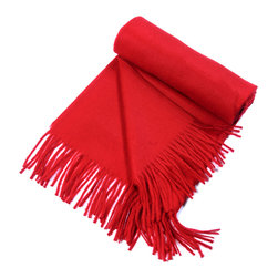 """Kuna - Jet Eco Throw, Red - Classic  baby alpaca Throw with a sophisticated color pattern and fringes. All natural, undyed Alpaca fibers.  63"""" long x 51"""" wide and 23 ounces."""