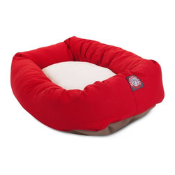 MAJESTIC PET PRODUCTS - Sherpa Bagel Bed - Your pet deserves to be warm and toasty when he or she takes a load off at the end of a busy day of … hanging out. This inviting bed gives them a place to recharge, before tackling yet another hectic day of napping.