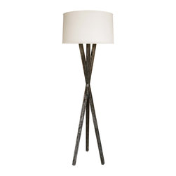 "Opus Floor Lamp - Jan Rosol Opus Collection unique hand made solid oak floor lamp, shown in cerused espresso finish, approx. 67""h. (Including the shade.)"