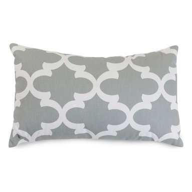 Majestic Home Goods - Gray Trellis Small Pillow - Add a splash of color and a little texture to any room with these plush pillows by Majestic Home Goods. The Majestic Home Goods pillow will instantly lend a comfortable look to your living room, family room or bedroom. Whether you are using them as decor throw pillows or simply for support, Majestic Home Goods pillows are the perfect addition to your home. These throw pillows are woven from Cotton Twill, and filled with Super Loft recycled Polyester Fiber Fill for a comfortable but durable look. Spot clean only.