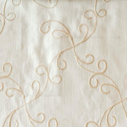 Scroll - Natural Upholstery Fabric - Item #1011211-16.
