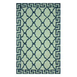"""nuLOOM - Contemporary 3' 6"""" x 5' 6"""" Grey Hand Hooked Area Rug Cotton and Wool Trellis - Made from the finest materials in the world and with the uttermost care, our rugs are a great addition to your home."""