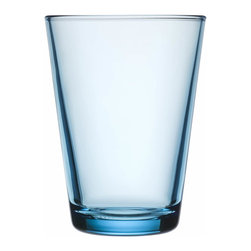Iittala - Kartio Tumbler, Set of 2, 13.5 Oz. Clear, Light Blue - Clean lines let the beverage — and your flawless style — speak for itself. A study in simplicity, this tumbler holds 13 1/2 ounces, so you can pour yourself a nice, cool drink of tasteful understatement.