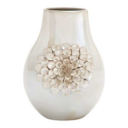 BZBZ62153 - Huangpu Ceramic Vase Decorative - Huangpu Ceramic Vase Decorative. This ceramic vase is truly a masterpiece and must for every indoors. This vase is made of fine bone china clay with impressive ceramic floral design on its outer body. Some assembly may be required.
