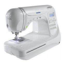 Brother Sewing - Computerized Sewing 294St PRW - Brother PC-420PRW Computerized Sewing Machine with 294 Stitch - Professional grade 294-stitch computerized sewing model delivers couture-level consistent stitch quality. Comes complete with 11 presser feet hard case and full set of accessories. 850 stitches per minute metal frame construction with easy-to-use LED display for stitch selection and dual LED workspace lighting system. Exceptional fabric feeding system presser foot pressure adjustment next-generation easy one-handed threading system F.A.S.T. bobbin system and variable speed control with illuminated start/stop feature for sewing without the foot controller. 294 built-in stitches with 10 styles of one-step auto-size buttonholes and 3 lettering styles. Plus design custom stitches with the exclusive Brother My Custom Stitch feature. Bilingual instruction manual 25-year limited warranty and toll-free customer support.
