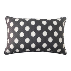 Jiti Pillows - Spot Rectangle Pillow - Features: -Material: 100% Polyester. -100% Fiber insert. -Piping edge. -Removable cover. -Safe for outdoor use. -Machine wash. -Low tumble dry. -Made in the USA.