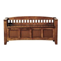 Jaclyn Entryway Storage Bench - I love a good storage bench in the entryway. It makes such a welcoming first impression.