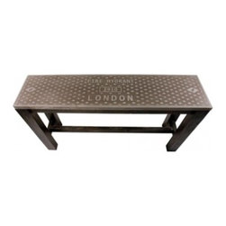 London Fire Hydrent Console - In an entryway or as a sofa table, I love the look of the console!