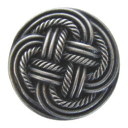 By the Shore - Classic Weave Knob in Antique Pewter