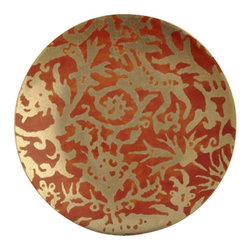 "L'Objet - L'Objet Fortuny Dessert Plates Pergolesi Orange Set/4 - The artisans of Venice inspire us. Their carefully guarded secrets of technique have been handed down directly from the ancient world, one generation of skilled hand-crafters to the next. There is one who especially speaks to the heart of L'Objet - the legendary fashion and textile designer Mariano Fortuny - revealing a deep and kindred connection that transcends time. It sets the pattern and pace of this collaboration.Earthenware Set of 4Hand Applied 24K GoldHand WashMeasures: 8"" Diameter. Luxuriously Gift Boxed. L'Objet is best known for using ancient design techniques to create timeless, yet decidedly modern serveware, dishes, home decor and gifts."