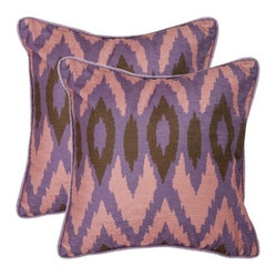 Woven Ikat Toss Pillows, Lavender