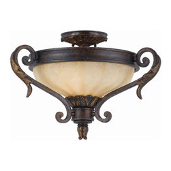 Triarch International - Triarch 32761-20 Venus English Bronze Semi-Flush Mount - Triarch 32761-20 Venus English Bronze Semi-Flush Mount