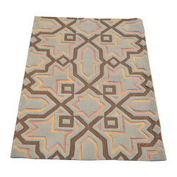 1800-Get-A-Rug - Oriental Rug Modern Nepali Mat Raised Hand Knotted Rug Sh7480 - About Modern & Contemporary