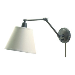 House of Troy - Swing Arm Library Wall Lamp - House of Troy PL20-OB - Oil Rubbed Bronze Finish. 9W x 16.5Deep. Takes one 100 watt Type A bulb (not included). Weight: 8 lbs. By House of Troy