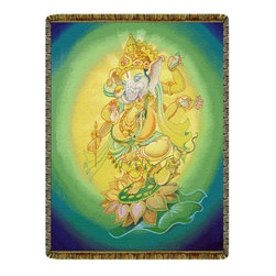 Circles of Light Imports LLC - Ganesha Tapestry Throw Blanket, Full Color Tapestry Throw Blanket as Shown, 52 I - Ganesha Tapestry Throw Blanket