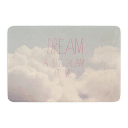 """KESS InHouse - Rachel Burbee """"Dream of Me"""" Tan White Memory Foam Bath Mat (24"""" x 36"""") - These super absorbent bath mats will add comfort and style to your bathroom. These memory foam mats will feel like you are in a spa every time you step out of the shower. Available in two sizes, 17"""" x 24"""" and 24"""" x 36"""", with a .5"""" thickness and non skid backing, these will fit every style of bathroom. Add comfort like never before in front of your vanity, sink, bathtub, shower or even laundry room. Machine wash cold, gentle cycle, tumble dry low or lay flat to dry. Printed on single side."""