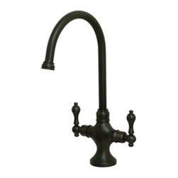 None - Vintage Classic Oil Rubbed Bronze Kitchen Faucet - Give your kitchen a modern update with this decorative brass faucet. Featuring an oil rubbed bronze finish, this faucet will make your kitchen decor feel classy.