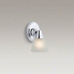 KOHLER - KOHLER Fort�(R) transitional single wall sconce - Reflecting the classic style of Fort� faucets, this Transitional single wall sconce adds creative lighting to your bath or powder room. It features premium metal construction and can be positioned facing up or down, depending on your lighting needs.