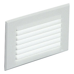 Progress Lighting - Progress Lighting P6821-30 Step Light 1 Light Deck/Step Lighting in White - Spring-held white louver faceplate. Metal housing has 1/2in I.P. conduit entry. For indoor and protected outdoor use. Standard 120V NPF ballast.