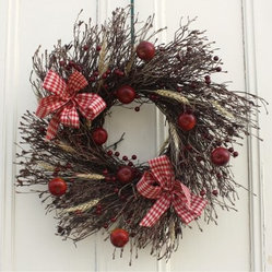 22 in. Twig Apple Harvest Wreath