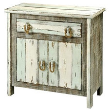 Weathered Boards Aqua Cream Gray Cabinet - Shades of Light