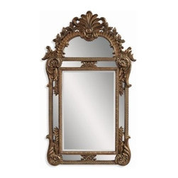 Burnished Bronze Gold Ornate Oversized Mirror - 41W x 67H in. - About BassettBassett Mirror Company Inc. has been one of America's leading names in home fashion since 1922 when the family business was founded on the eastern slopes of the Blue Ridge Mountains of Virginia. Four generations later Bassett still produces beautiful mirrors fine furniture and framed art pieces that are destined to become heirlooms.